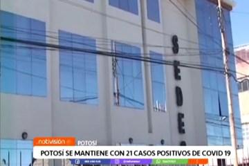 POTOSÍ SE MANTIENE CON 21 CASOS POSITIVOS DE COVID 19