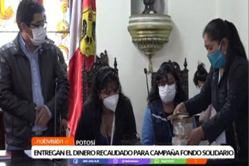 """ENTREGAN DINERO RECAUDADO PARA CAMPAÑA """"FONDO SOLIDARIO"""""""
