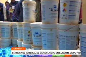 ENTREGA DE MATERIAL DE BIOSEGURIDAD A MUNICIPIOS DEL NORTE DE POTOSÍ