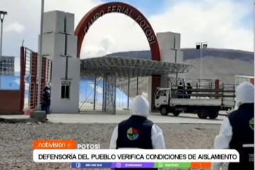 DEFENSORÍA DEL PUEBLO VERIFICA CONDICIONES DE AISLAMIENTO