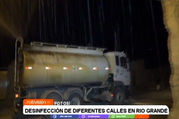 DESINFECCIÓN DE LAS CALLES EN RÍO GRANDE