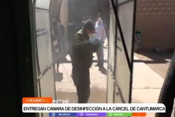 ENTREGAN CÁMARA DE DESINFECCIÓN A LA CÁRCEL DE CANTUMARCA