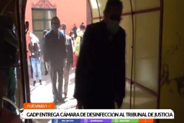 GAPD ENTREGA CÁMARA DE DESINFECCIÓN AL TRIBUNAL DE JUSTICIA