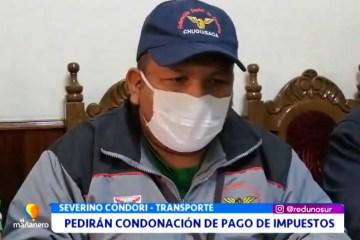 TRANSPORTE PEDIRÁ LA CONDONACIÓN DEL PAGO DE IMPUESTOS