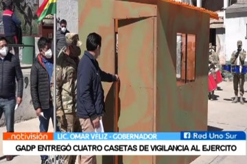 GADP ENTREGÓ CUATRO CASETAS DE VIGILANCIA AL EJÉRCITO