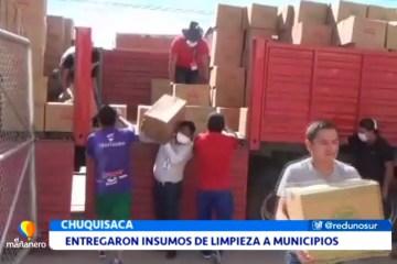 ENTREGARON INSUMOS DE LIMPIEZA A MUNICIPIOS
