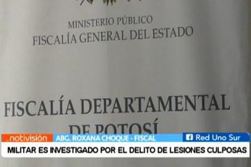 MILITAR ES INVESTIGADO POR EL DELITO DE LESIONES CULPOSAS