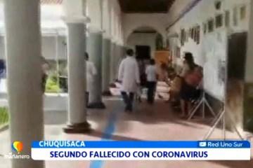 SEGUNDO FALLECIDO CON CORONAVIRUS EN CHUQUISACA