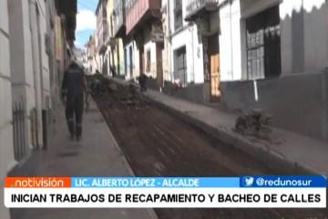 INICIAN TRABAJOS DE RECAPAMIENTO Y BACHEO DE CALLES