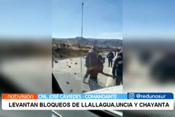 LEVANTAN BLOQUEOS DE LLALLAGUA, UNCIA Y CHAYANTA