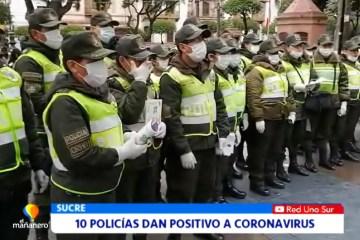 10 POLICÍAS DAN POSITIVO A CORONAVIRUS