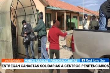 ENTREGAN CANASTAS SOLIDARIAS A CENTROS PENITENCIARIOS