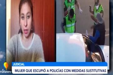 MEDIDAS SUSTITUTIVAS PARA MUJER QUE ESCUPIÓ A POLICÍAS