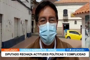 DIPUTADO RECHAZA ACTITUDES POLÍTICAS Y COMPLICIDAD