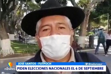FUTPOCH PIDE ELECCIONES NACIONALES EL 6 DE SEPTIEMBRE