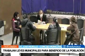 TRABAJAN LEYES MUNICIPALES EN BENEFICIO DE LA POBLACIÓN