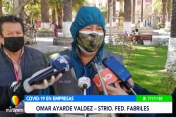 FABRILES DENUNCIAN FALTA DE BIOSEGURIDAD EN EMPRESAS