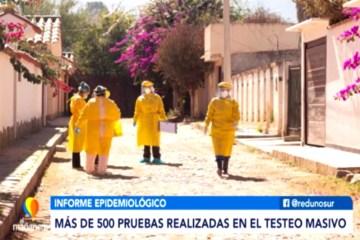 MÁS DE 500 PRUEBAS REALIZADAS EN EL TESTEO MASIVO