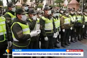 MEDIO CENTENAR DE POLICÍAS CON COVID EN CHUQUISACA