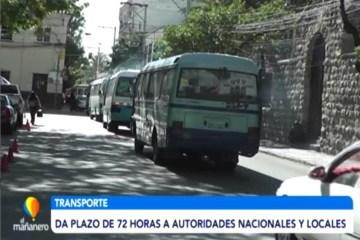 TRANSPORTE DA PLAZO DE 72 HORAS A AUTORIDADES