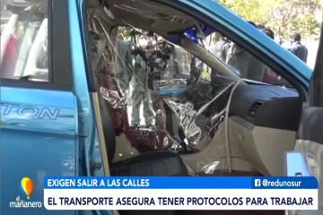 EL TRANSPORTE ASEGURA TENER PROTOCOLOS PARA TRABAJAR