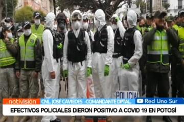 EFECTIVOS POLICIALES DIERON POSITIVO A COVID 19 EN POTOSÍ