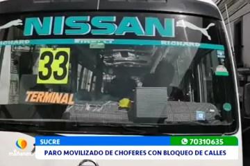 PARO MOVILIZADO DE CHOFERES CON BLOQUEO DE CALLES Y CARRETERAS
