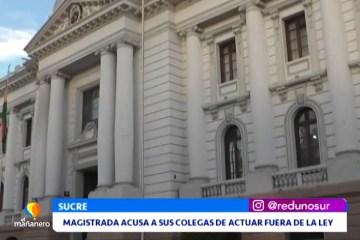 MAGISTRADA ACUSA A SUS COLEGAS DE ACTUAR FUERA DE LA LEY