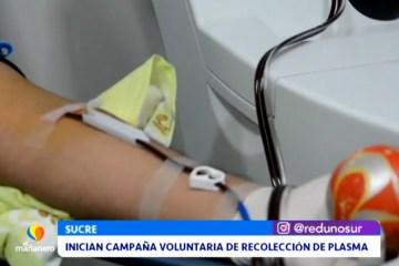 INICIAN CAMPAÑA VOLUNTARIA DE RECOLECCIÓN DE PLASMA