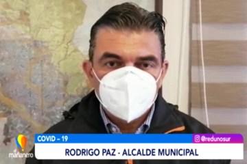 ALCALDE EXPRESA SU SOLIDARIDAD A FUNCIONARIOS CONTAGIADOS DEL MUNICIPIO