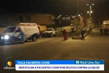 INVESTIGAN A PACIENTES COVID POR DELITOS CONTRA LA SALUD PÚBLICA