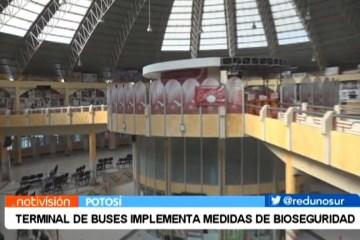 TERMINAL DE BUSES IMPLEMENTA MEDIDAS DE BIOSEGURIDAD