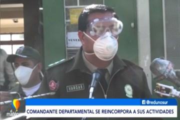 EL COMANDANTE DEPARTAMENTAL SE REINCORPORA A LA FUERZA POLICIAL