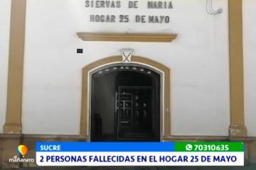 DOS PERSONAS FALLECIDAS EN EL HOGAR 25 DE MAYO