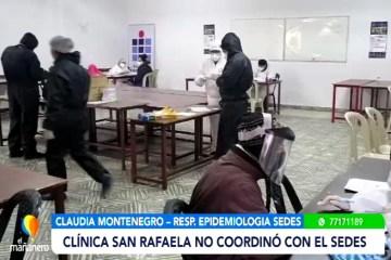 CLÍNICA SAN RAFAELA NO COORDINÓ CON EL SEDES