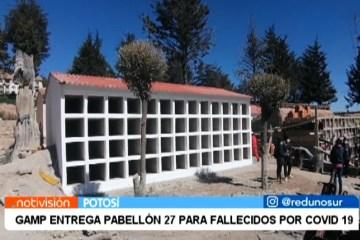 GAMP ENTREGA PABELLÓN 27 PARA FALLECIDOS POR COVID 19