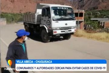 CERCARON VILLA ABECIA PARA EVITAR CASOS DE COVID 19