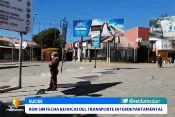 AÚN NO HAY FECHA PARA EL REINICIO DEL TRANSPORTE INTERDEPARTAMENTAL