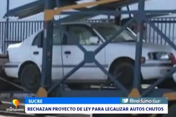 RECHAZAN PROYECTO DE LEY PARA LEGALIZAR AUTOS CHUTOS