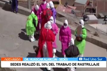 SEDES ALCANZÓ UN 50% DEL TRABAJO DE RASTRILLAJE