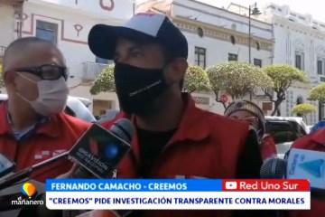 """""""CREEMOS"""" PIDE INVESTIGACIÓN TRANSPARENTE CONTRA EVO MORALES"""
