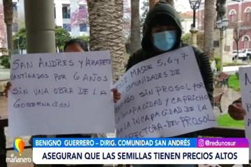CAMPESINOS EN EMERGENCIA ECONÓMICA POR LA PANDEMIA EXIGEN EL PROSOL