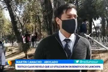 TESTIGO CLAVE REVELÓ QUE LO UTILIZARON EN BENEFICIO DE LANCHIPA