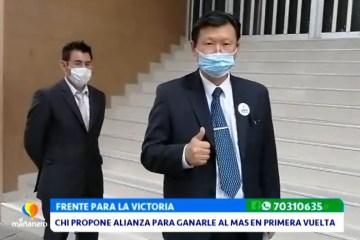 CHI PROPONE ALIANZA PARA GANARLE AL MAS EN PRIMERA VUELTA