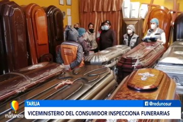 VICEMINISTRA DEL CONSUMIDOR INSPECCIONÓ FUNERARIAS