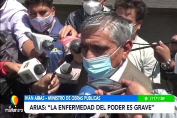 """MINISTRO ARIAS PIDE CUIDARSE DE LA ENFERMEDAD DEL """"HUBRIS"""""""