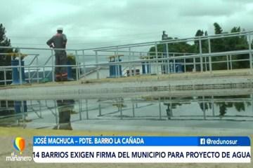 14 BARRIOS EXIGEN FIRMA DEL MUNICIPIO PARA PROYECTO DE AGUA