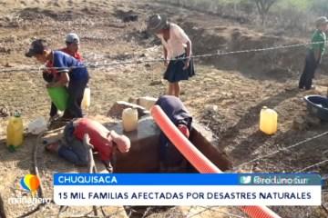 MÁS DE 15 MIL FAMILIAS AFECTADAS POR DESASTRES NATURALES