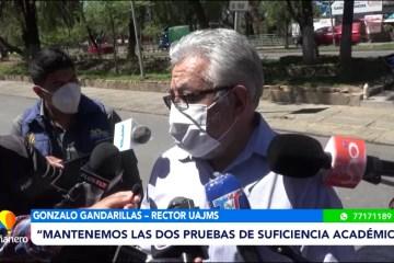 UAJMS MANTIENE LAS DOS PRUEBAS DE SUFICIENCIA ACADÉMICA