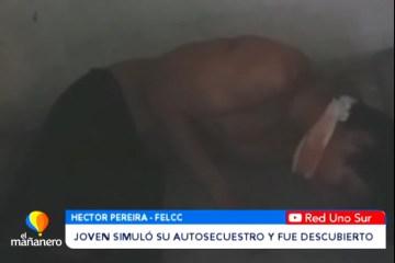 JOVEN SIMULÓ SU AUTOSECUESTRO Y FUE DESCUBIERTO